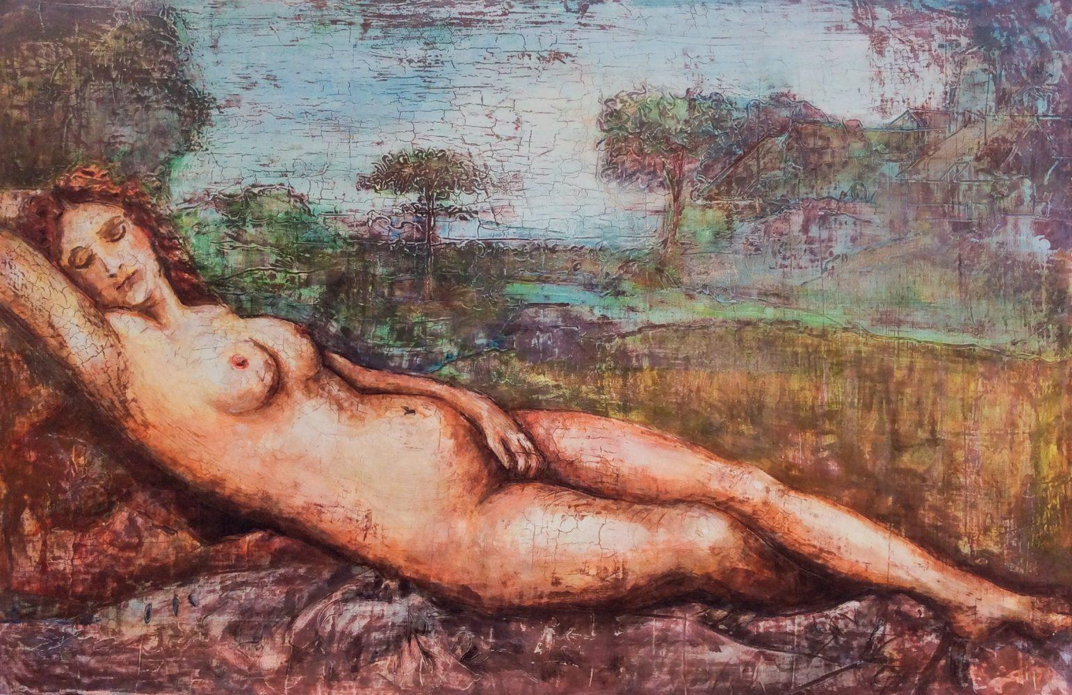 Nude laid venus