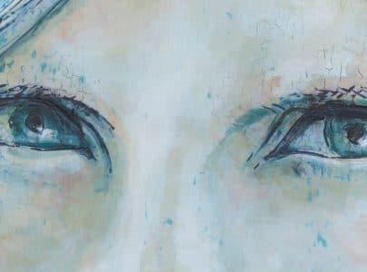 Unique portrait in fresco painting