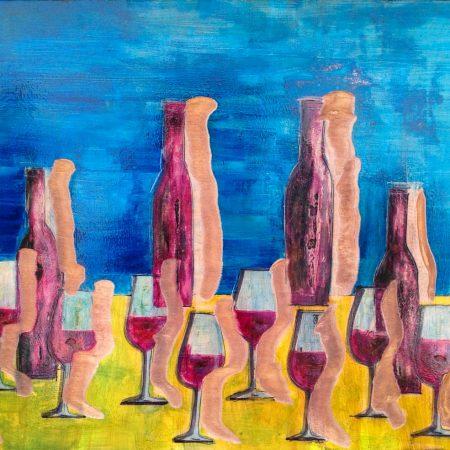 bottiglie e calici