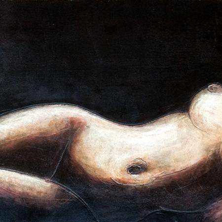 laid naked girl