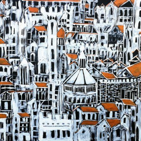 Bigallo Black, pittura, firenze, florence artist