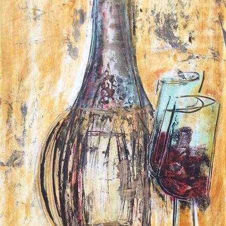 bottiglia e calici