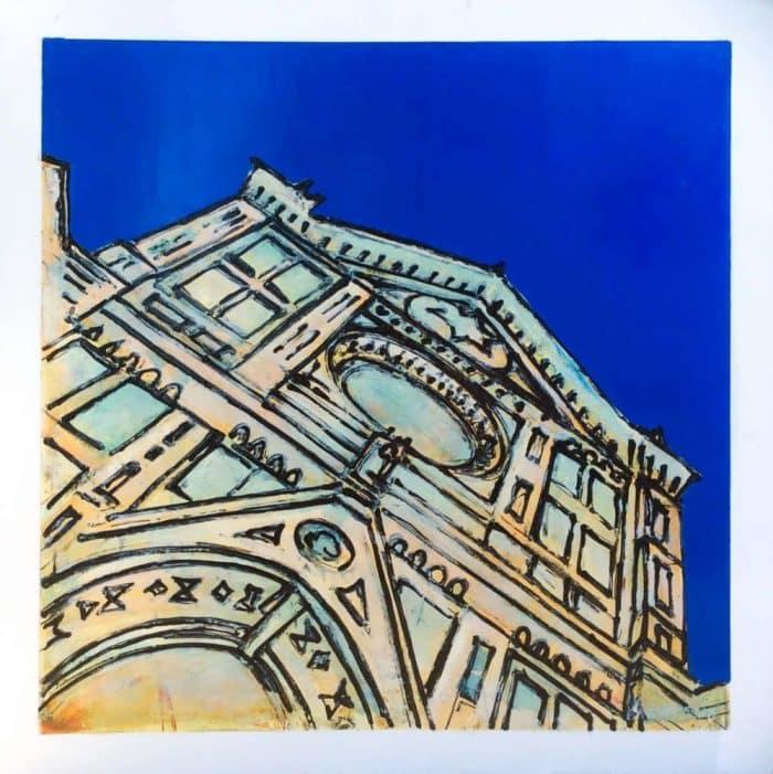 Santa croce blu