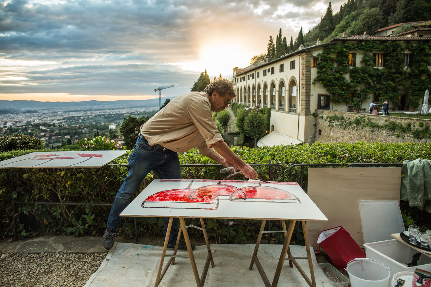 """Fresco Painting en Plein Air"" Chapter I Villa San Michele"