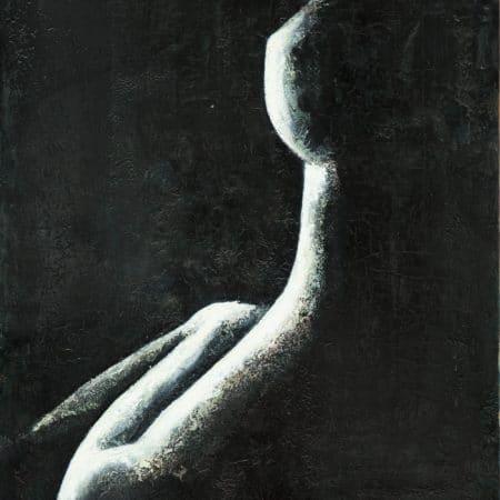 nudo bianco e nero verticale