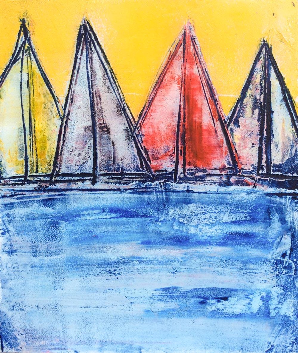 Sail Boats Colored