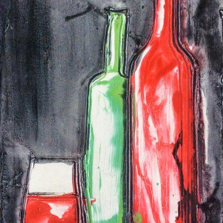 bottiglie e calice