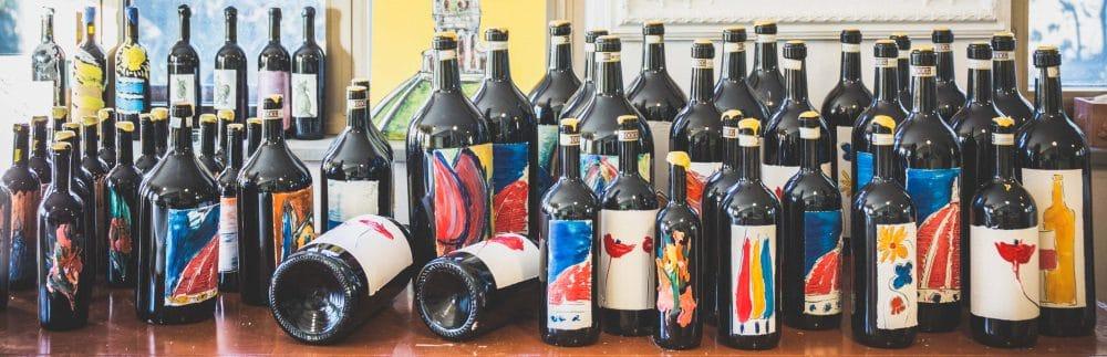 Christmas and New Year fresco bottles wine 2017