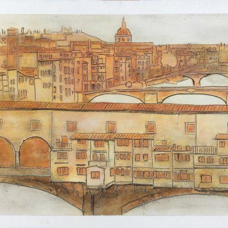 ponte vecchio arancione