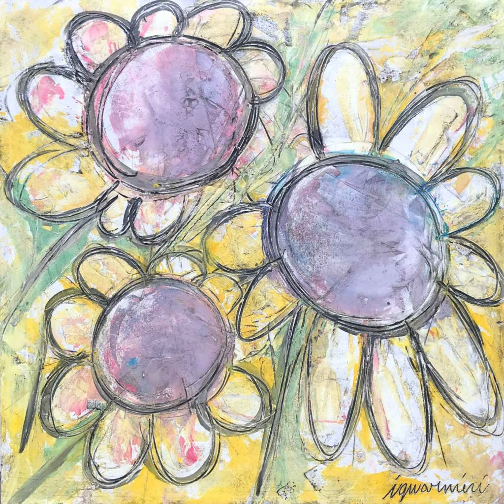 Happy Flowers 39 x 39