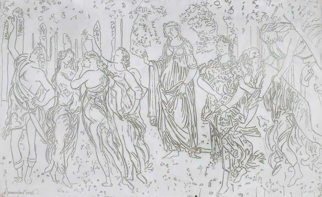White Spring Botticelli 39 x 64 inch