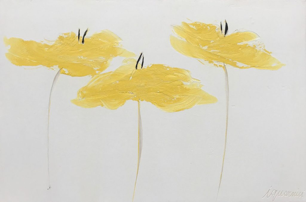 Yellow Poppies 32 x 48 inch