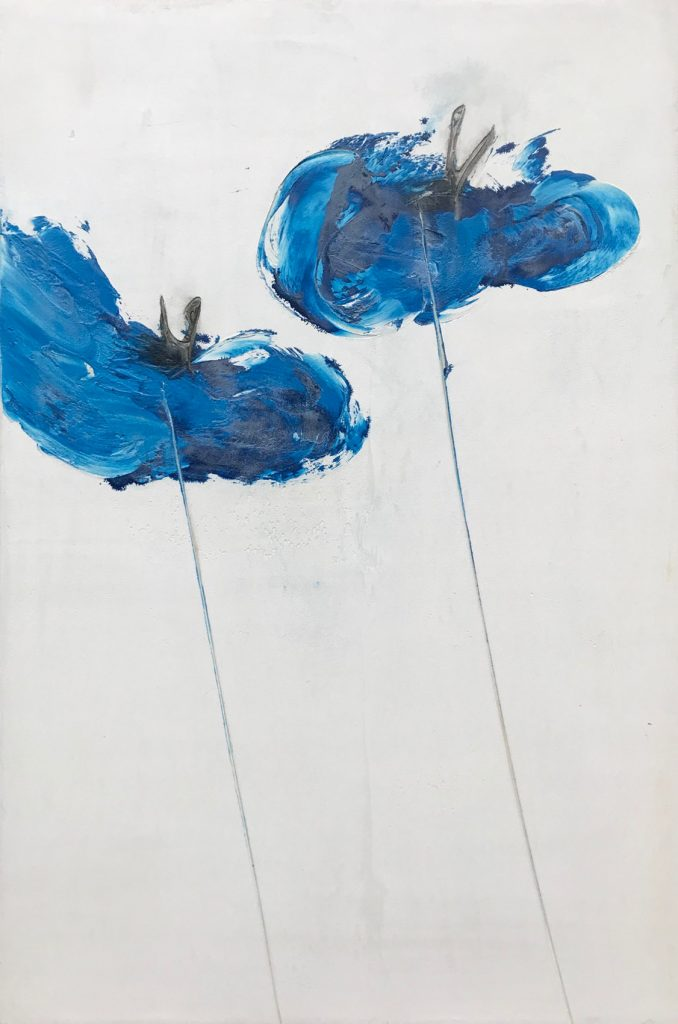 Blue Poppies 32 x 48 inch