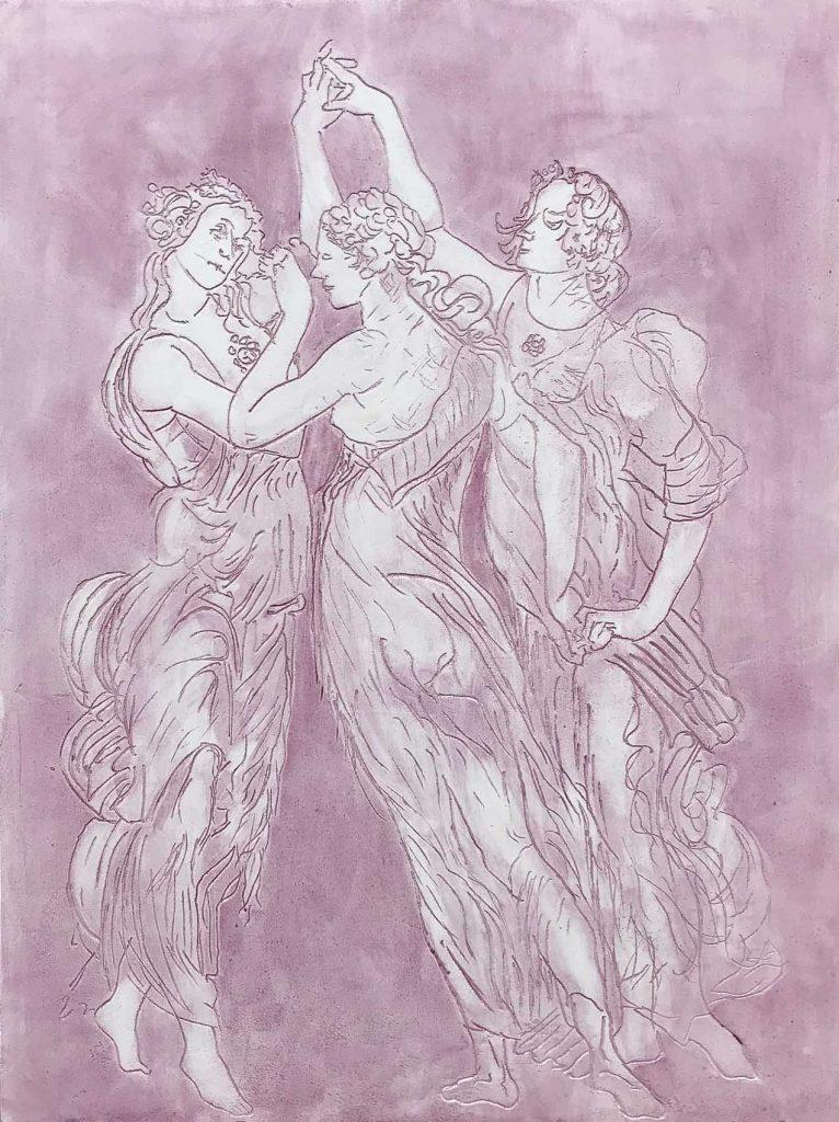 Pink Detail Botticelli Spring 32 x 48 inch