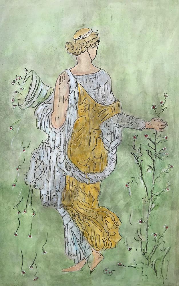 Flora Pompei 32 x 48 inch