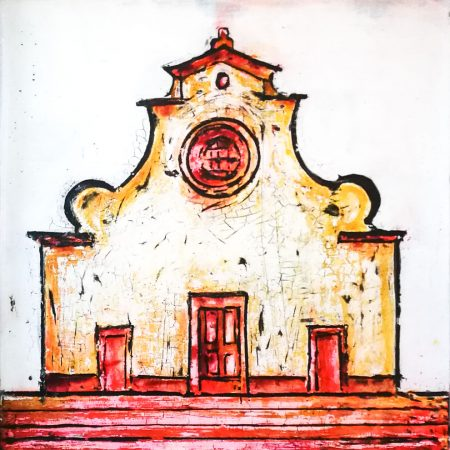 contemporary fresco painting, santo spirito
