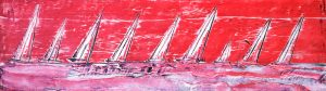 sail boats in red