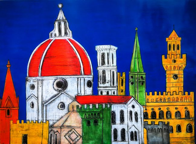 Florence Summer Night Painting by iguarnieri