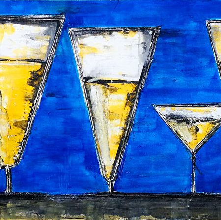 Prosecco glasses, contemporary fresco paintings, florence, florentine artist, art, local artis, art gallery florence, buy art in florence