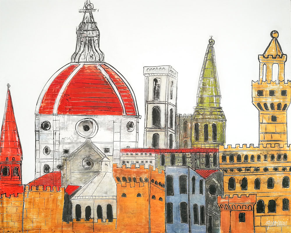 Florence Landscape Antique
