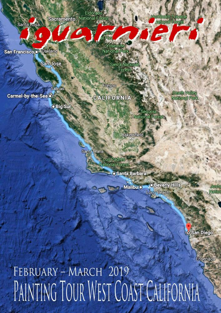 California tour Iguarnieri painting 2019