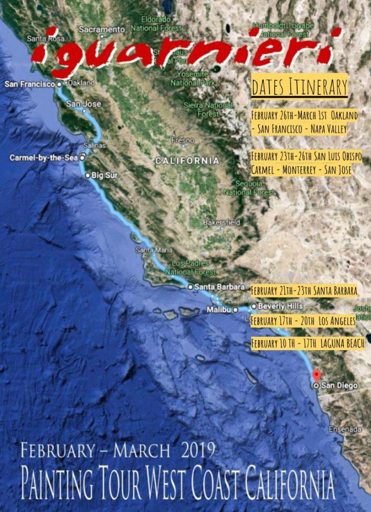 California Painting Tour Itinerary 1