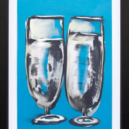Alluminio smalto e graffito Sour Glasses