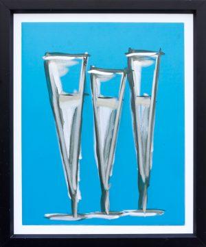Alluminio smalto e graffito Sherry Glasses