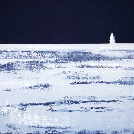 Seaside on canvas