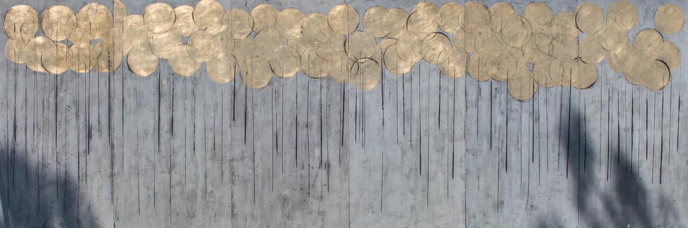 """Summer 2019 "" Gold leaf plating & Pietra Serena Fresco Painting"